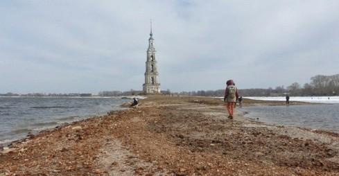 Калязин: старинный центр города впервые за 20 лет вышел на сушу